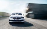 BMW 540i 2020 facelift official images - tracking front