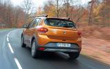 Dacia Sandero Stepway 2021 UK official images - rear