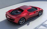 94 Ferrari 296 GTB 2021 official reveal aerial