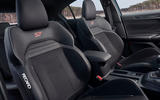 Ford Focus ST 2019 first ride - front seats