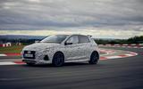 2021 Hyundai i20 N prototype drive - track side