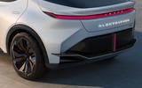 94 Lexus LF Z concept official images rear lights