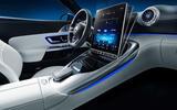 94 Mercedes AMG SL 2022 official interior cabin