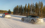 94 Mercedes AMG SL prototype official winter testing snow