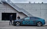 94 Mercedes Benz EQS prototype ride 2021 talking