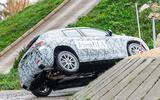 Mercedes-Benz GLA prototype ride 2019 - cornering rear