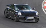 94 Porsche 911 hybrid spy images 2021 track