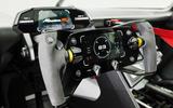 94 Porsche Mission R concept feature steering wheel