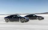 Porsche Taycan prototype ride 2019 - driving pair front