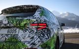 94 Skoda Fabia 2021 prototype drive rear lights