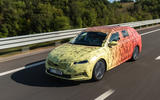2020 Skoda Octavia prototype camouflaged drive - on the road front