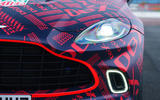 2020 Aston Martin DBX camouflaged prototype ride - headlights