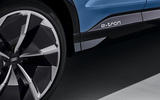 Audi Q4 E-tron electric SUV Geneva 2019 official press images - side sills