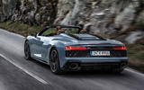95 Audi R8 Performance RWD 2021 official images roadster tracking rear