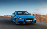 Audi TT RS 2019 facelift - official press images - on the road front