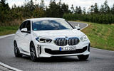 BMW 1 Series 128ti prototype 2020 first drive review - cornering front