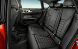 95 BMW 4 Series Gran coupe 2021 official reveal images rear seats