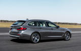 BMW 530i Touring 2020 facelift official images - tracking rear