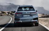 95 BMW iX prototype ride 2021 road rear