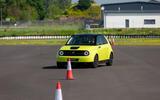 Honda e 2019 prototype drive - cones slalom front right