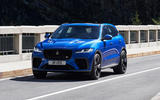 Jaguar F-Pace SVR MY2021 official reveal - on the road front