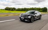 95 Kia EV6 prototype drive 2021 track