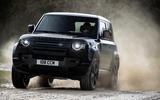 95 Land Rover Defender V8 2021 official images 90 offroad front