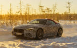95 Mercedes AMG SL prototype official winter testing tracking