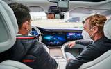 95 Mercedes Benz EQS prototype ride 2021 interior