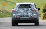 95 Mercedes EQE SUV spies Oct 2021 on road rear