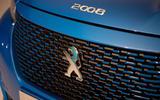 Peugeot e-2008 reveal studio - bonnet