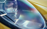 2019 Porsche 911 Carrera S track drive - headlight details