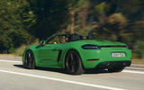 Porsche 718 Boxster GTS 2020 official press images - tracking rear