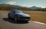 95 Porsche Cayenne GT 2021 official reveal tracking side