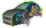 95 Porsche Macan EV official test images simulation