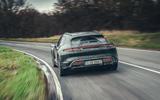 95 Porsche Taycan Cross Turismo prototype drive on road rear