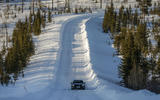 Porsche Taycan prototype ride 2019 - snowy road
