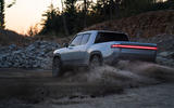 Rivian R1T official reveal - kicking up dirt