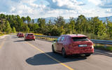 2020 Skoda Octavia prototype camouflaged drive - convoy rear