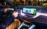 Skoda Vision iV prototype drive - dashboard