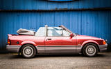 95 used buying guide Ford Escort XR3i cabrio static