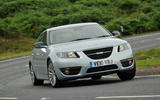 95 used buying guide saab 9 5 2021 cornering front
