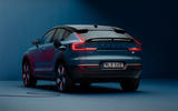95 volvo c40 recharge 2021 official images static rear end