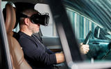 Volvo mixed reality simulator research - actual car