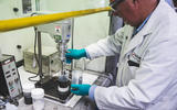 We built a Lithium-ion battery - mixing powders
