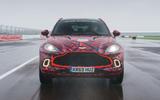 2020 Aston Martin DBX camouflaged prototype ride - track nose