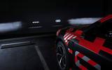 Audi E-tron Sportback prototype matrix headlights - logos