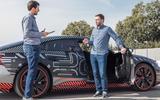 Audi E-tron GT camo track driving - interview
