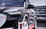 96 Audi Q4 Etron 2021 prototype drive headlights