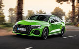 96 Audi RS3 2021 official reveal saloon hero front